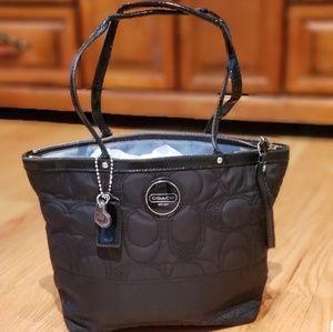 Black Nylon Tote Coach Bag number E1276-F17668
